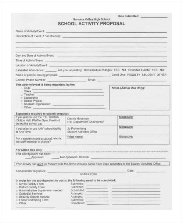 School Proposal Templates 8 Free Pdf Format Download Free