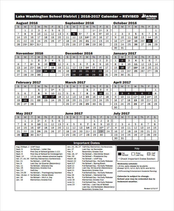 Vacation Calendar Templates  Free Sample Example Format