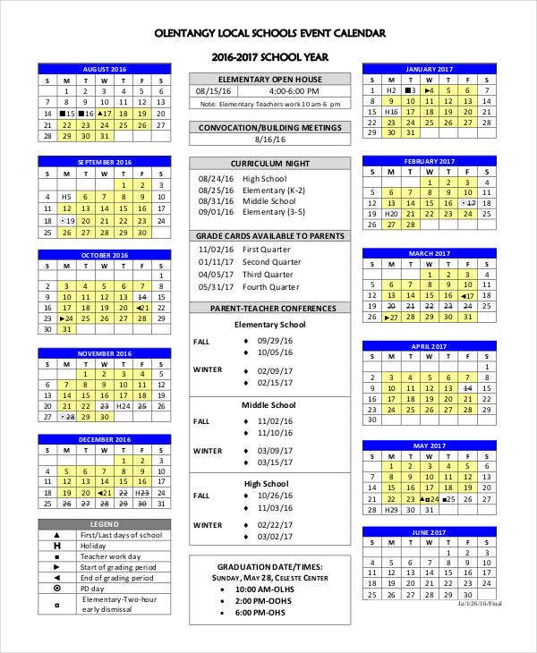 Event calendar templates 9 free word pdf format for Annual calendar of events template