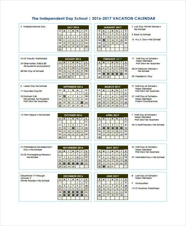school calendar5