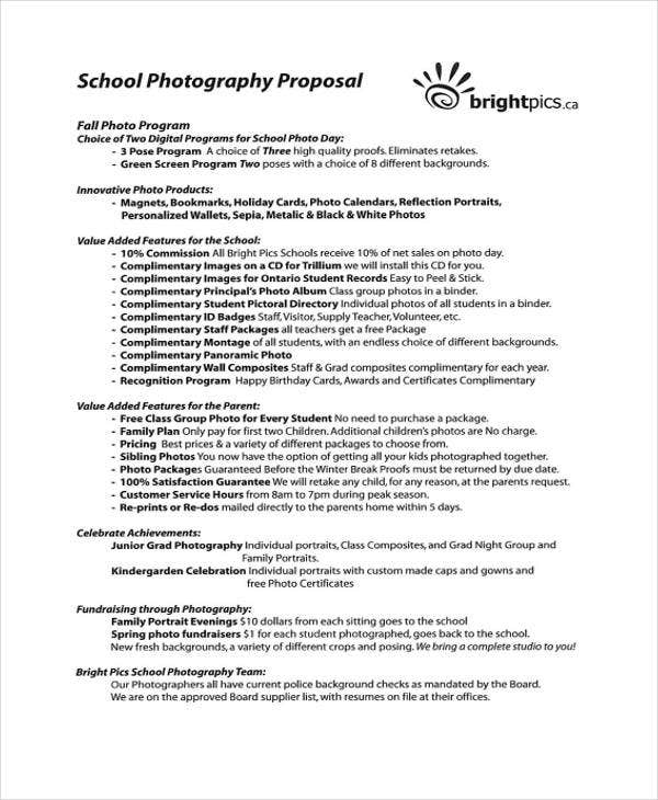 school photography proposal