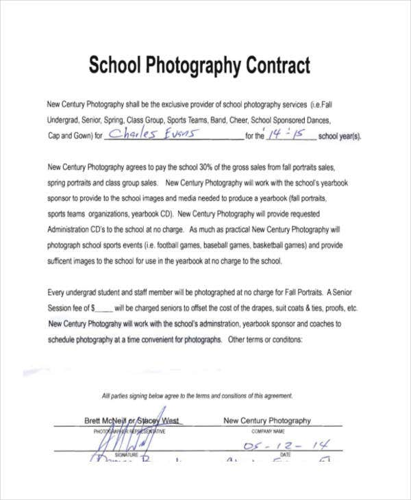 9+ Photography Contract Templates - Free Sample, Example Format