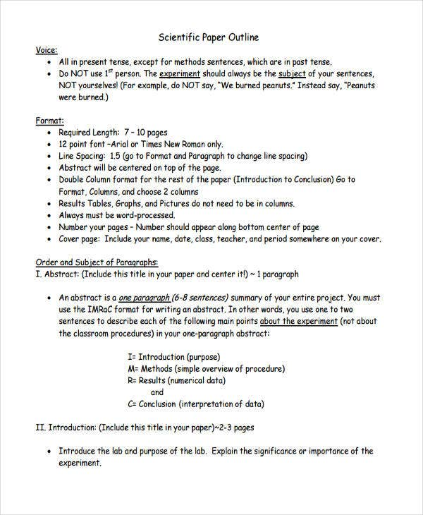 simple research paper format