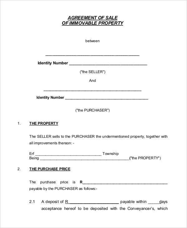 8 property contract templates sample examples free for Selling a business contract template free