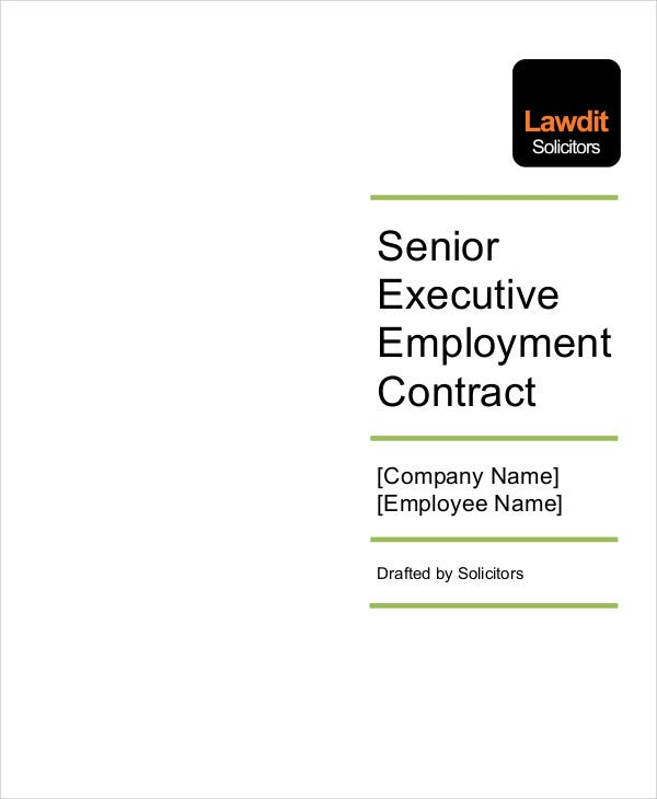 senior executive employment