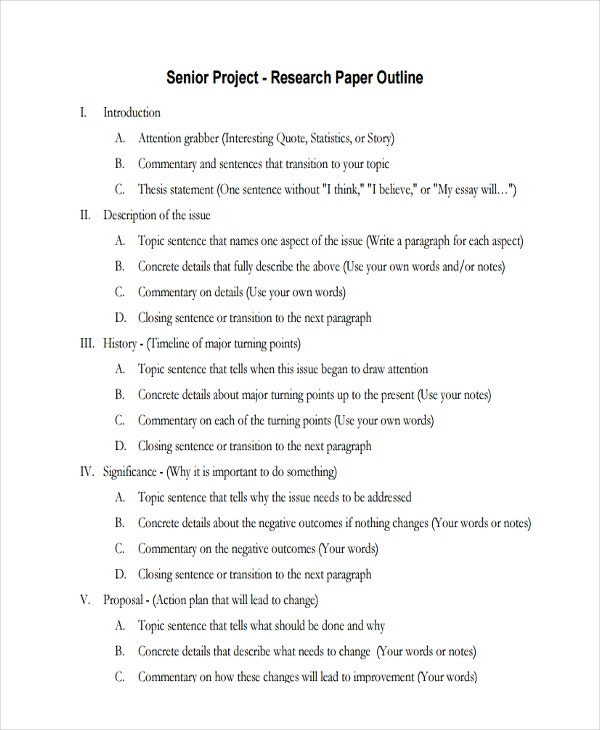 senior project outline