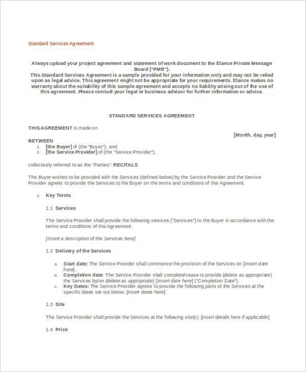 Service Agreement  Basic Services Contract