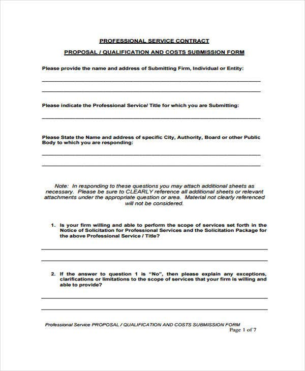 Proposal Contract Templates  Sample Examples  Free  Premium