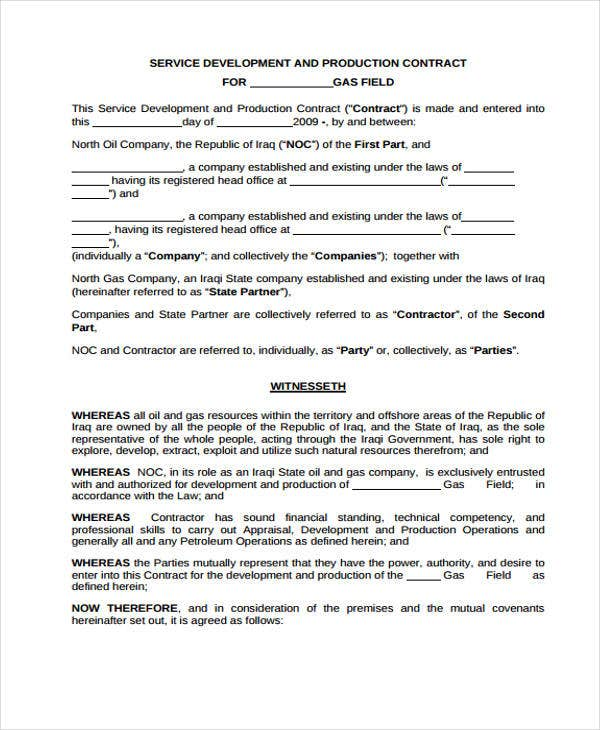 Development Contract Templates - 8+ Free Pdf, Format Download