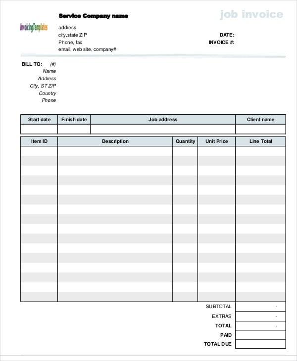 service invoice6
