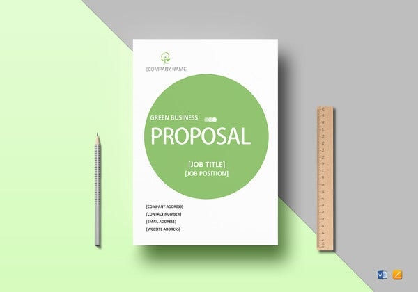 simple-green-business-proposal-template