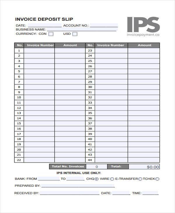 Deposit Invoice Templates Sample Example Free Premium - What is a deposit invoice for service business