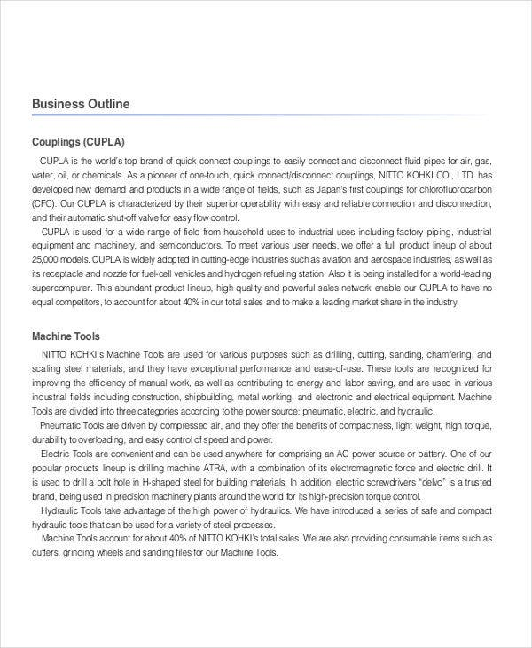 small business outline