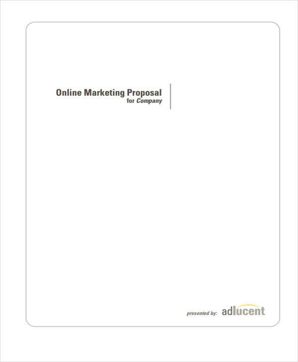 Online Business Proposal