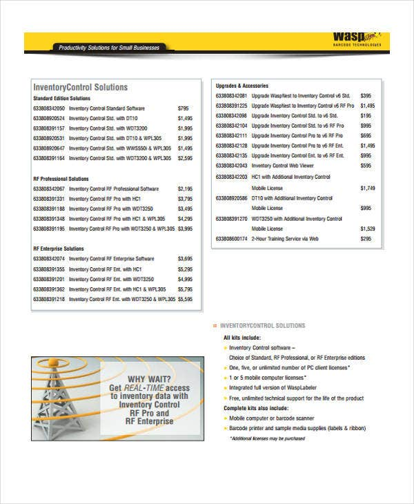 Small Business Inventory Templates | 8+ Free Xlsx, Docs ...