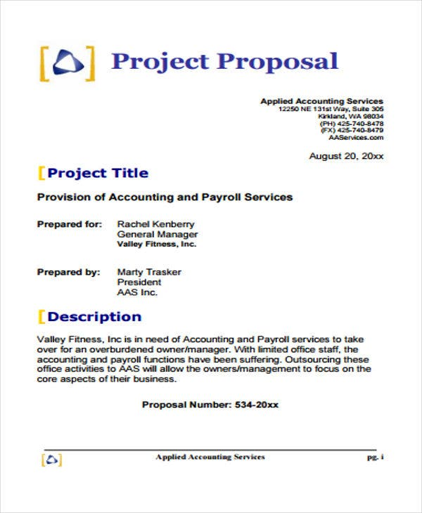 small business project proposal sample