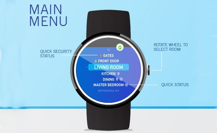 smart watch home app design