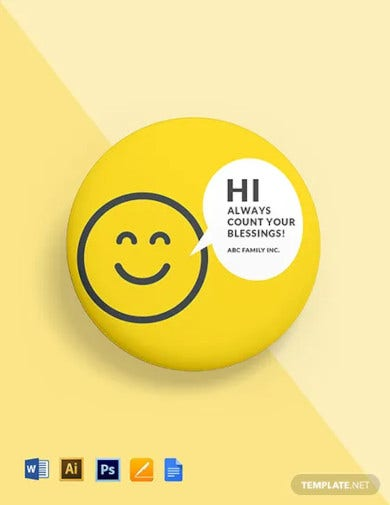 smily badge round badge template
