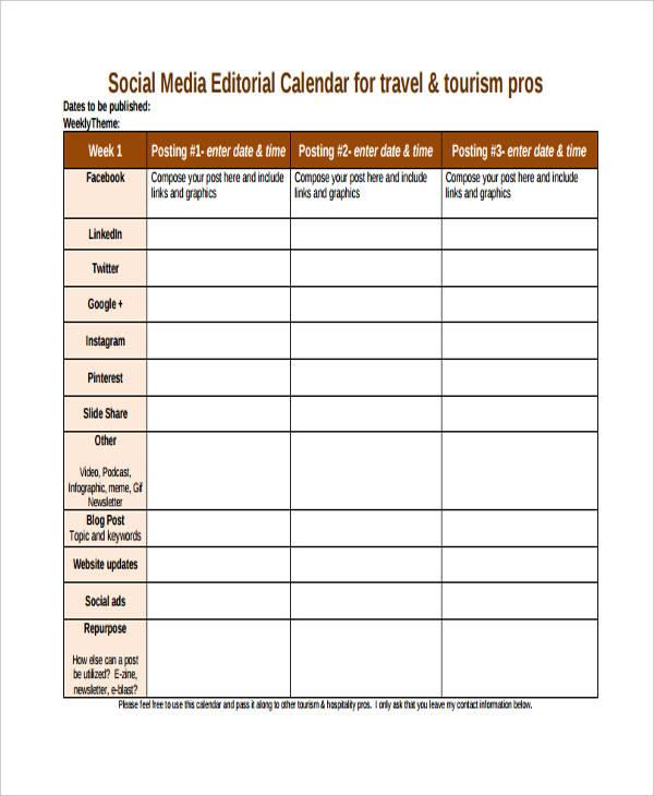 social media calendar template | datariouruguay