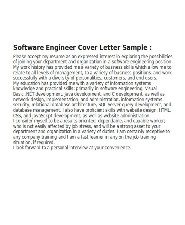 8  software developer cover letter templates