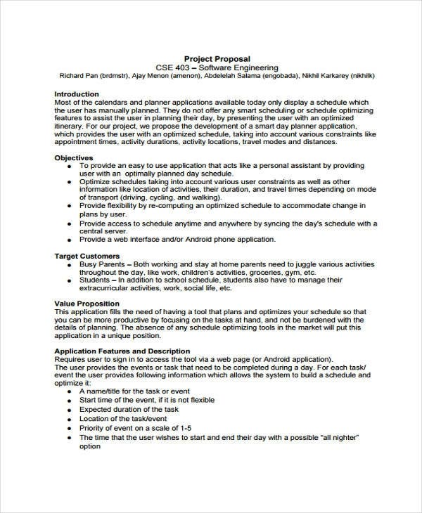 software engineering project proposal