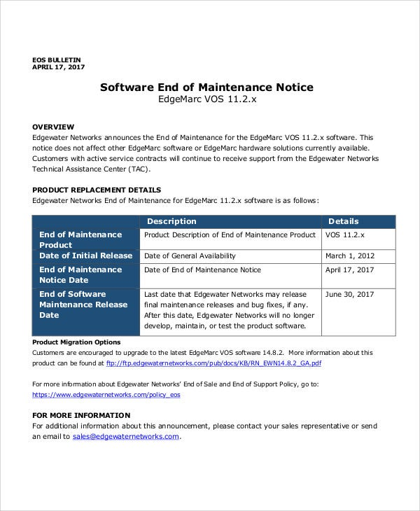 software notice