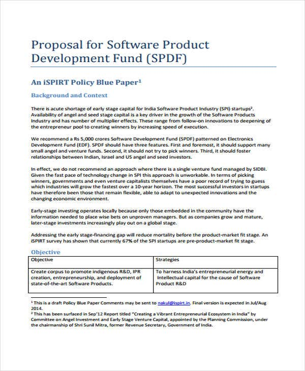 Exceptional Software Product Intended For Product Proposal Template