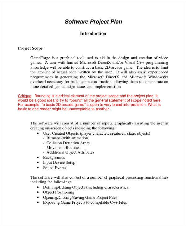software project plan