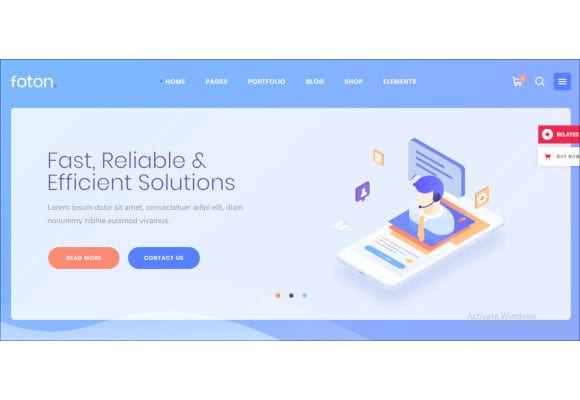 software and app landing page theme