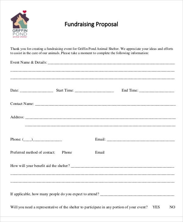 Fundraising Event Proposal Templates Free Sample Example Format