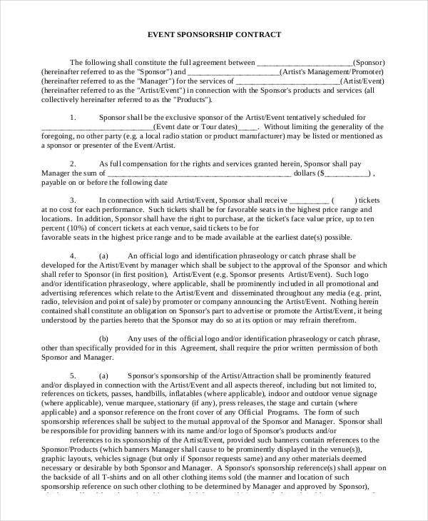 42 Basic Contract Templates Google Docs Word Apple Pages Free