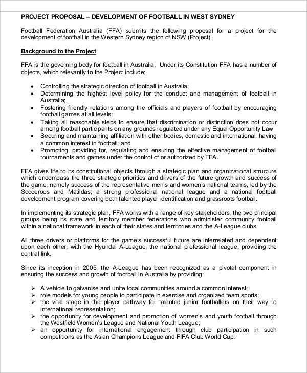 Development Project Proposal Templates Free Sample Example - Game proposal document example