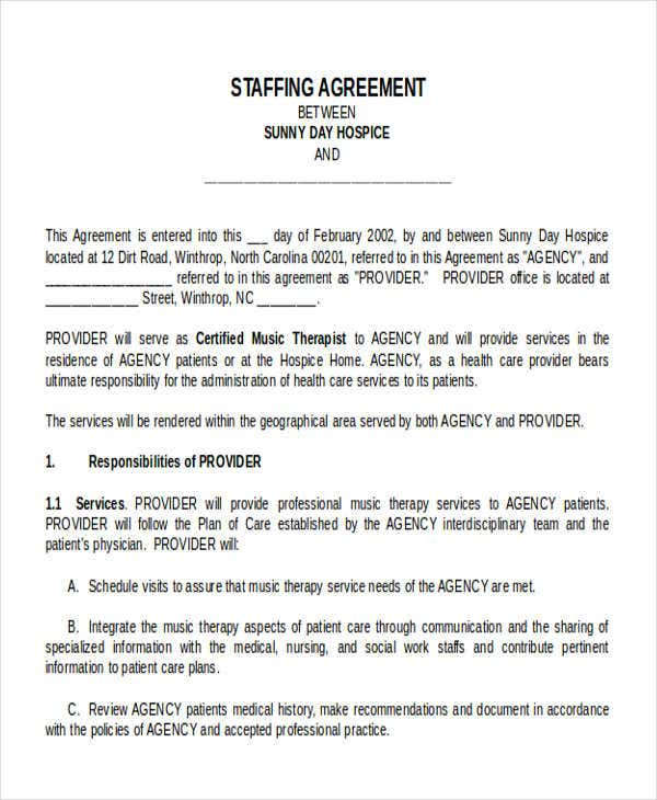 staffing agreement