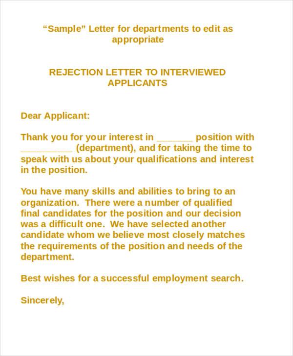 standard applicant