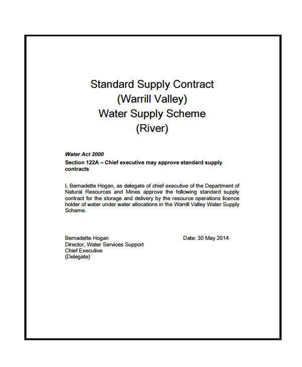 Supply Contract Templates  Sample Example  Free  Premium