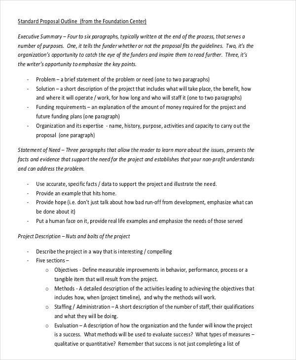 standard rfp template - 29 outline templates in pdf free premium templates