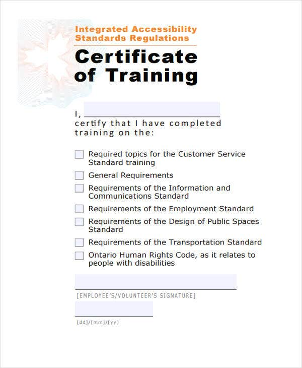 32 certificate templates in pdf free premium templates training certificate template standard training certificate accessforward yelopaper Image collections