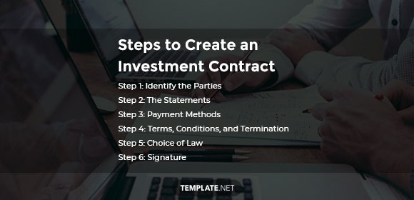 steps to create an investment contract