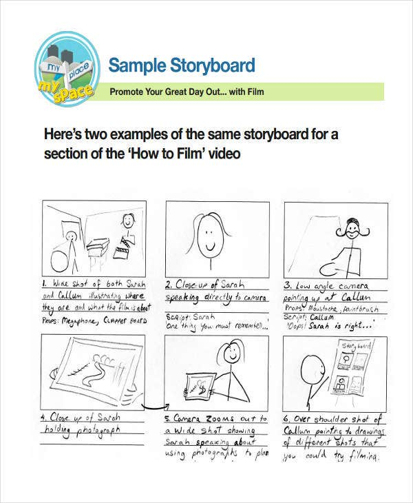 14 free storyboard templates free premium templates for Interactive storyboard template