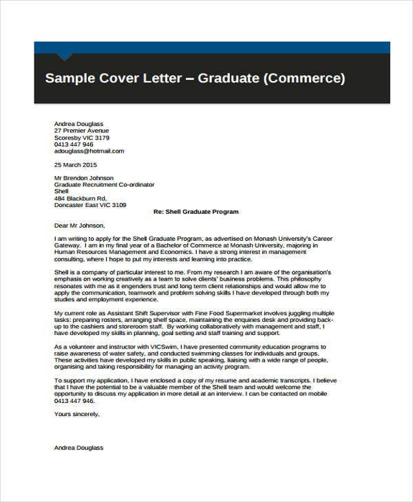 Cover letter for student 10 free word pdf format for Sample cover letter for student placement