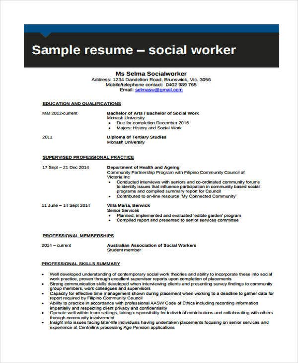 student social worker