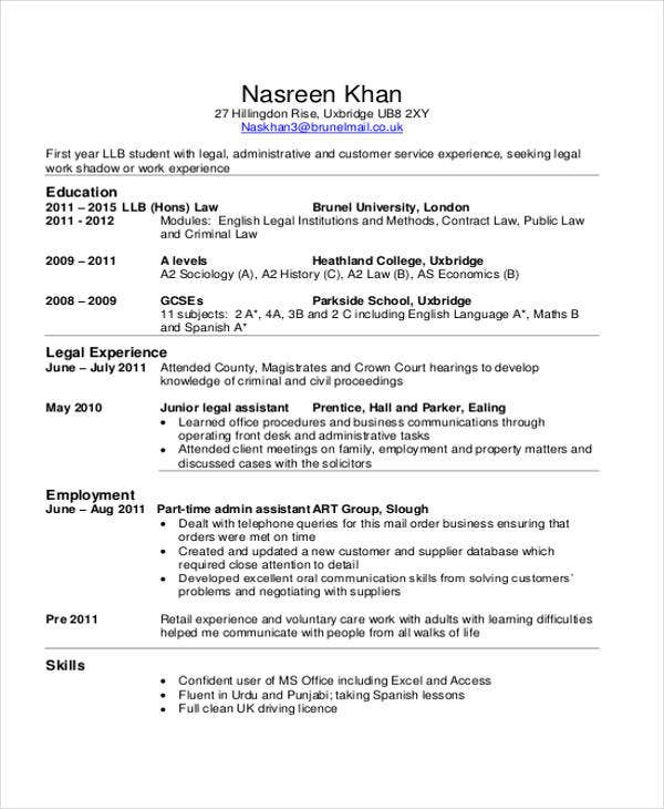 9  summer job resume templates