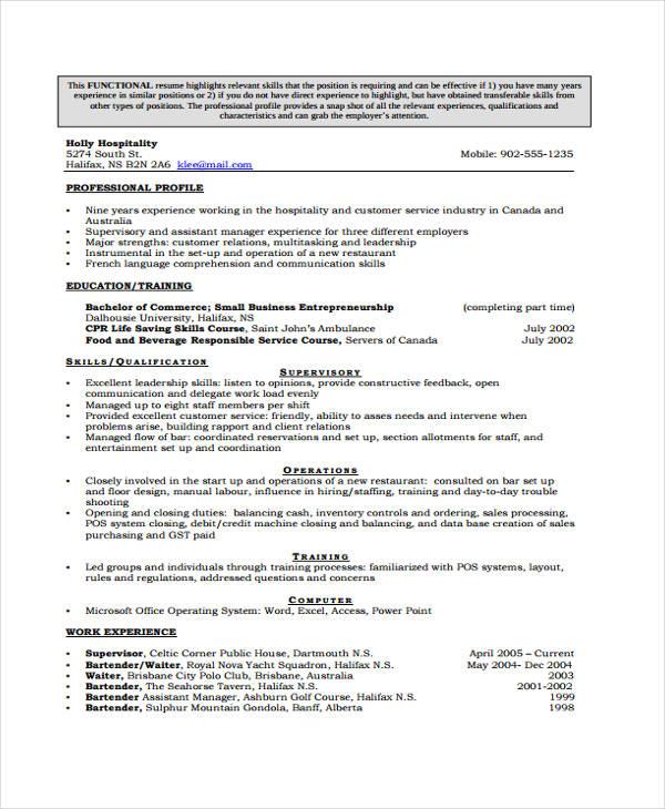 Curriculum Vitae Template Australia