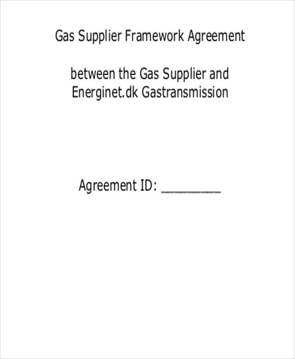supplier framework agreement
