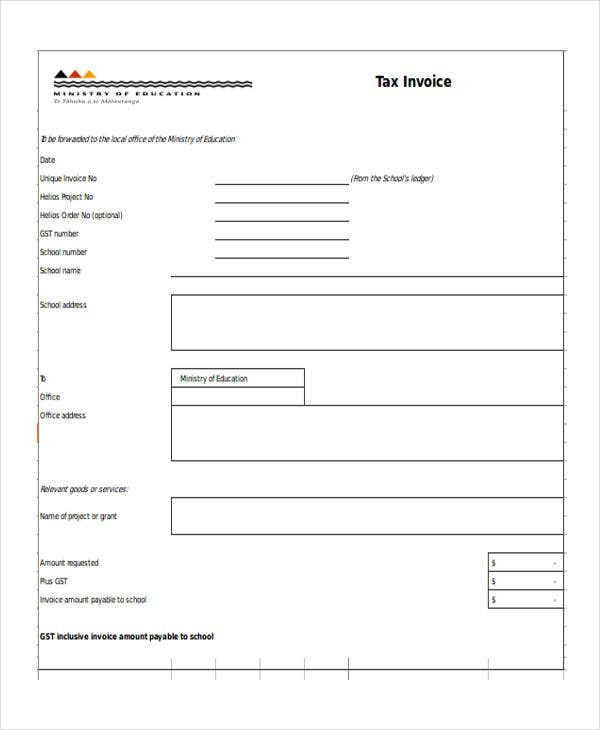 tax invoice example