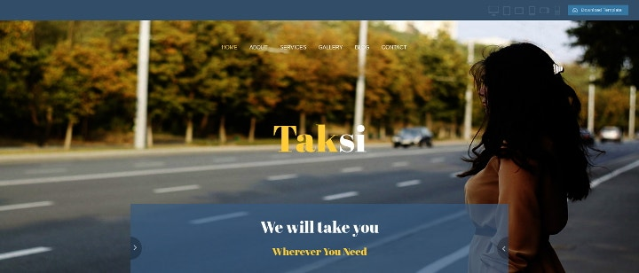 taxi-bootstrap-website-template