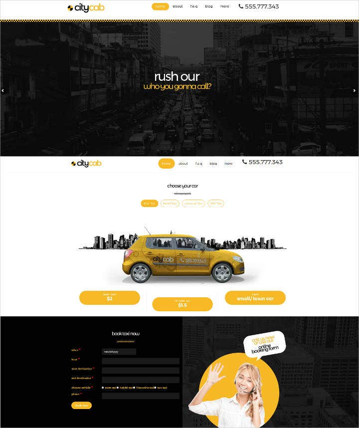 19 Taxi Website Templates Online City Service Free Premium