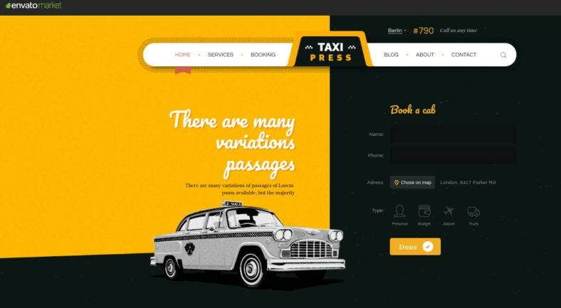 taxi-company-website