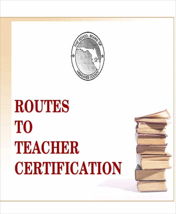 teacher certificate