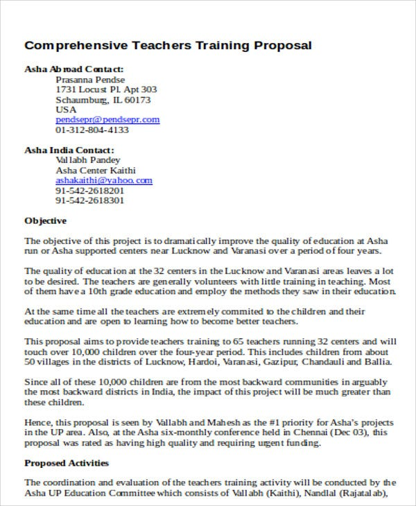 7+ Training Project Proposal Templates -Free Sample, Example